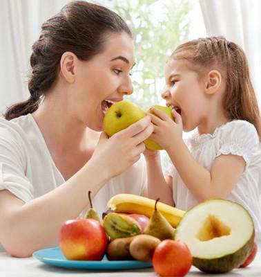fruta niños